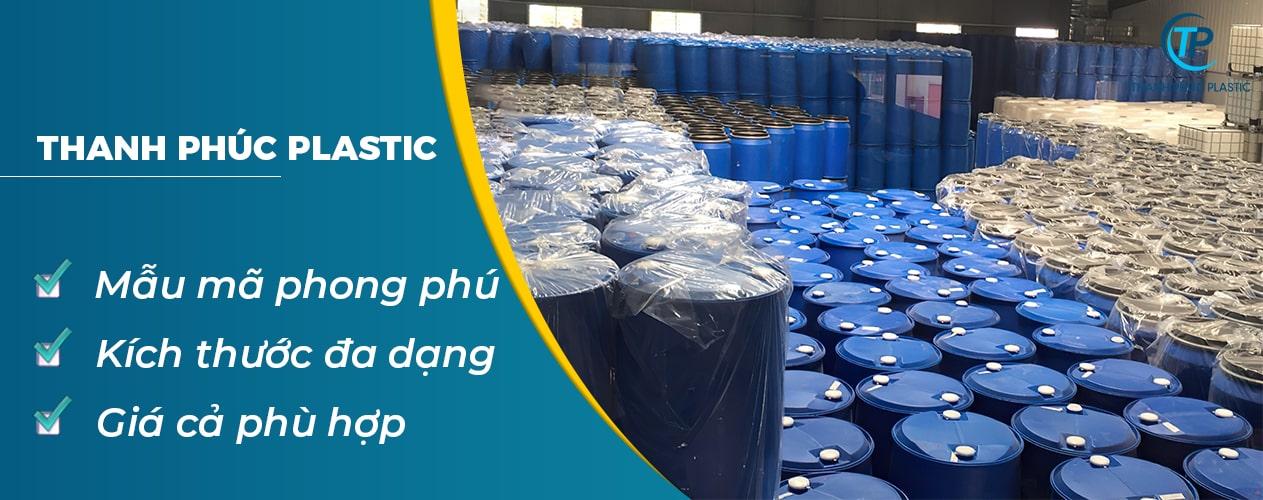 Nhựa Thanh Phúc cung cấp mẫu thùng phuy nhựa phong phú